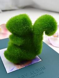 Недорогие -милый зеленый искусственная трава белка для автомобиля и домашнего декора