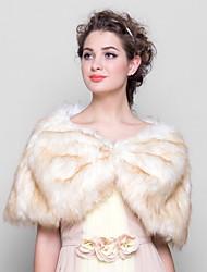 faux fur свадебная вечеринка / вечерние меховые обертки capelets элегантный стиль