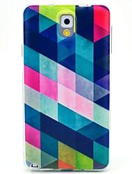 お買い得  -ケース 用途 Samsung Galaxy Samsung Galaxy Note パターン バックカバー 幾何学模様 TPU のために Note 3