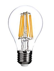 cheap -E26/E27 LED Filament Bulbs A60(A19) 8 COB 800lm Warm White 2800-3200K AC 220-240V