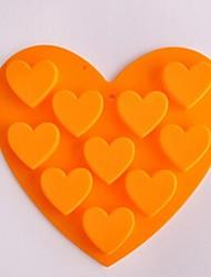 economico -10 buche stampi torta a forma di cuore gelatina ghiaccio cioccolato, silicone 15 × 14,5 × 1,5 centimetri (6,0 × 5,8 × 0,6 pollici)