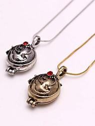 cheap -Women's Shape Vampire Fashion Lockets Necklace Rhinestone Alloy Lockets Necklace Daily Casual Costume Jewelry