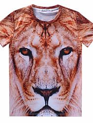 economico -MEN - T-shirt - Informale Rotondo - Maniche corte Cotone