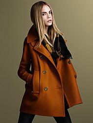 povoljno -kakani ženska Europska modni dugih rukava tvida kaput