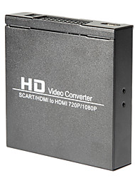 scart / hdmi a 720p 1080p scatola del monitor convertitore video hd hdmi per HDTV DVD stb