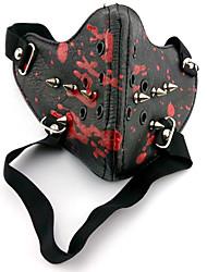 billige -Maske Inspireret af Tokyo Ghoul Cosplay Anime Cosplay Tilbehør Maske PU Læder Herre nyt Varm