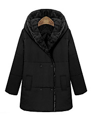 cheap -Women's Chic & Modern Coat - Solid Colored, Modern Style