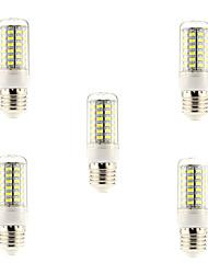 Недорогие -5 шт. 5 W LED лампы типа Корн 600 lm E26 / E27 69 Светодиодные бусины SMD 5730 Естественный белый 220-240 V