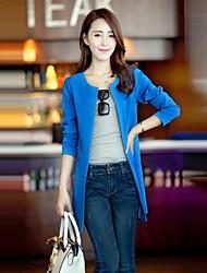 billige -Moderne Stil,Dame Ensfarvet Chic & Moderne Trenchcoat