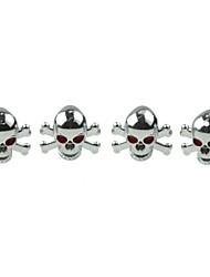 economico -rame auto di lusso pneumatico cranio valvole decorazione tappo (4 pezzi per confezione)