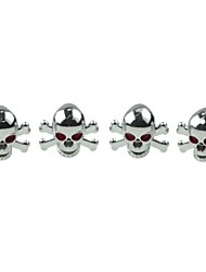 cheap -Luxury  Car Tire Skull  Copper Valves Decoration Cap (4 Pieces Per Pack)