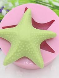 estrela do mar em forma de ferramentas fondant bolo de chocolate bolo de silicone molde de decoração, l8.5cm * * w8.5cm h3.3cm