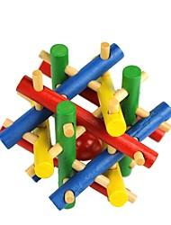 perline colorate giocattolo di legno fuga di puzzle per sbloccare