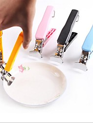 Colorful Stainless Steel Bowl Clamping Device,Stainless Steel 17.2×12×2.5 CM(6.8×4.8×1.0 INCH) Random Color