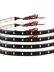 cheap -[10PCS/Lot]5W 30CM 15xSMD3528 Blue LED Light Strip DIY LED Auto Lamp for Car Use(DC12V)