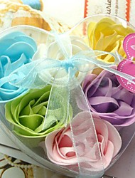 6 Heart-shaped  Rose  Soap