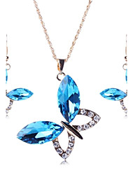 Jewelry Set Women's Party Jewelry Sets Alloy Crystal / Rhinestone Necklaces / Earrings Gold
