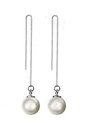 Women's Drop Earrings Costume Jewelry Pearl Sterling Silver Jewelry For