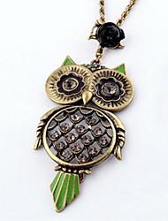 abordables -rétro collier de diamants des femmes a augmenté de hibou