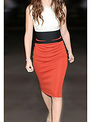 povoljno -TNL ženske modne okrugli vrat rukava bodycon haljina
