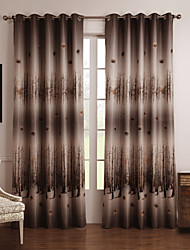 cheap -Two Panels Curtain Country , Floral / Botanical Bedroom Polyester Material Blackout Curtains Drapes Home Decoration For Window