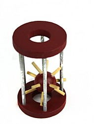låse puslespil legetøj træ bur