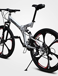 cheap -Mountain Bike Cycling 21 Speed 26 Inch/700CC Double Disc Brake Springer Fork Full Suspension Ordinary/Standard Aluminium Alloy Carbon
