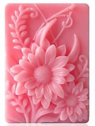 Недорогие -подсолнечника формы помады торт шоколадный силиконовые формы торт украшение инструменты, l9.2cm * w6.8cm * h3cm