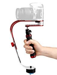 Stabilisateur de poche DEBO Vidéo UF-007 pour appareil photo reflex - Rouge + Noir + Sliver