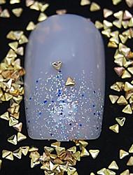 cheap -100PCS  Small Triangle Golden Metal Rivet Nail Art Decoration