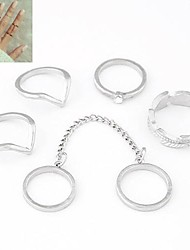 cheap -Women's Midi Rings Costume Personalized European Alloy Jewelry For Daily
