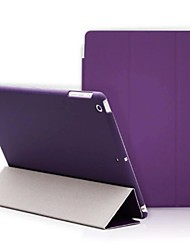 For Case Cover with Stand Origami Full Body Case Solid Color Hard PU Leather for Apple iPad (2017) iPad Pro 9.7'' iPad Air 2 iPad Air