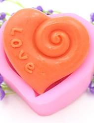 kærlighed hjerteformet fondant kage chokolade silicone skimmel kage dekoration værktøjer, l7.5cm * w7cm * h3.8cm