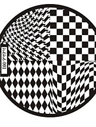 nail art timbro immagine che timbra piatto modello di serie hehe no.1