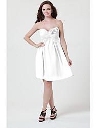 cheap -Sheath / Column Strapless / Sweetheart Neckline Short / Mini Chiffon Bridesmaid Dress with Criss Cross / Flower by LAN TING BRIDE®