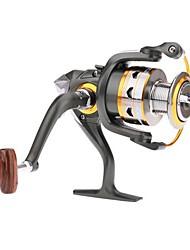 Molinetes de Pesca Molinetes Rotativos 5.2:1 11 Rolamentos Trocável Pesca de Água Doce - DK4000