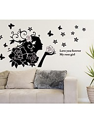 wall stickers Vægoverføringsbilleder, style steg pige pvc wall stickers