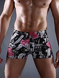 povoljno -Muškarci Uže bokserice - Cvjetni print Medium Waist