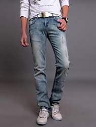 calça casual puros de jeans do pld®men (denim)