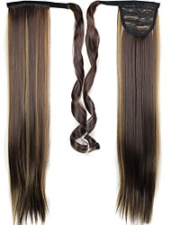 cheap -Straight Ponytails Synthetic Hair Piece Hair Extension
