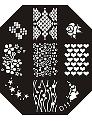 Nail Art Stamp Stamping Image Template Plate D Series NO.11