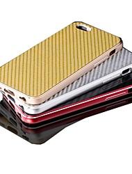 baratos -wind®luxury superávit caso de alta qualidade tampa do material de fibra de metal de alumínio de carbono para iphone 6 mais (cores sortidas)