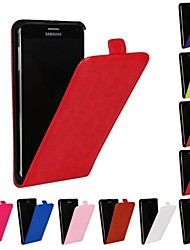 billige -Etui Til Samsung Galaxy Samsung Galaxy Note Flipp Heldekkende etui Ensfarget PU Leather til Note 4