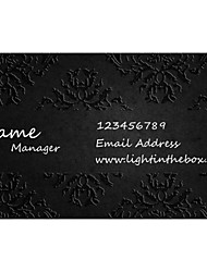 cheap -Personalized Business Cards 200 PCS Classic Black Pattern 2 Sided Printing of Fine Art Filmed Paper