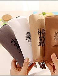 baratos -memória de paris algodão e linho saco estacionário (1 pcs de cor aleatória)