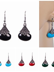 cheap -Drop Earrings Imitation Pearl Resin Rhinestone Simulated Diamond Alloy Black Red Green Blue Jewelry Wedding Party Daily Casual Sports