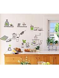 decalques de parede adesivos de parede, material de cozinha estilo de parede pvc etiquetas