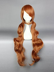 Parrucche Cosplay Cosplay Lulu Marrone Lungo Anime Parrucche Cosplay 90 CM Tessuno resistente a calore Donna