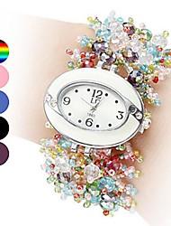 economico -Per donna Orologio da polso Orologio braccialetto Orologio alla moda Quarzo Ceramica Banda Con perline Multicolore