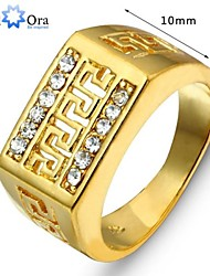 cheap -Men's Statement Ring - Gold Plated Fashion 8 / 9 / 10 / 11 / 12 Gold For Party